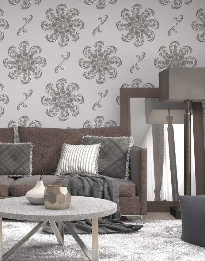 Judit Gueth Seahorse wallpaper in Starfish colourway