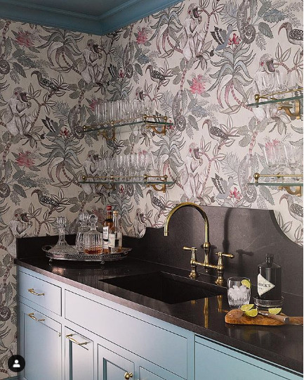 Wallpaper Cole and Son, Image from Charlotte Lucas Design