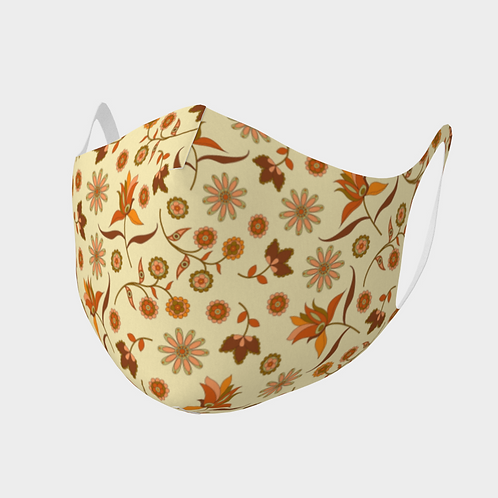 Face Mask Double Knit Precision Cut Poly/Spandex  - Fall Leaves