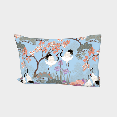 Pillow Sleeve RIGHT side - Cotton Sateen - Japanese Garden Blue