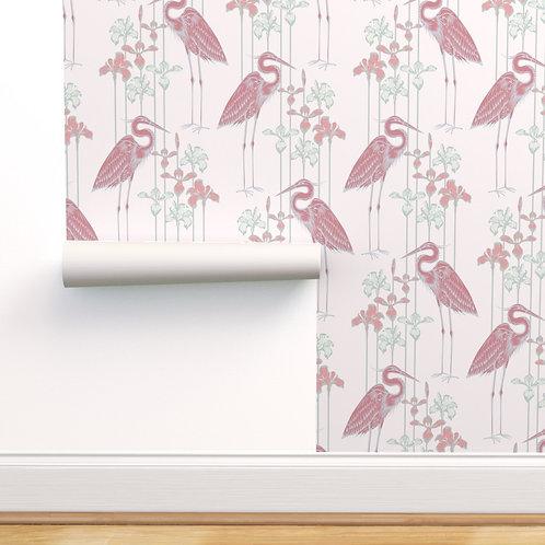 Heron Rose Peel & Stick or Prepasted Wallpaper