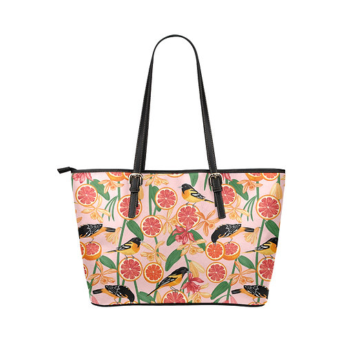 Vegan Leather Tote Bag Small - Pink Lemonade
