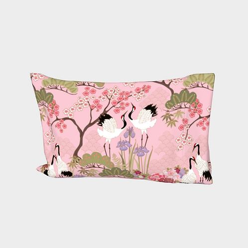 Pillow Sleeve RIGHT side - Cotton Sateen - Japanese Garden Pink