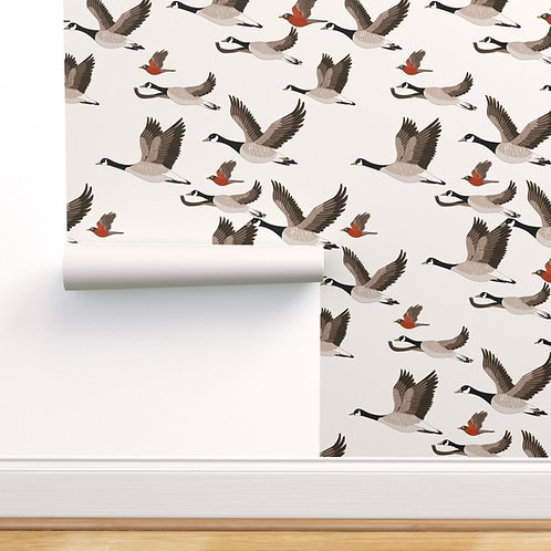 Migratory Birds Peel & Stick or Prepasted Wallpaper