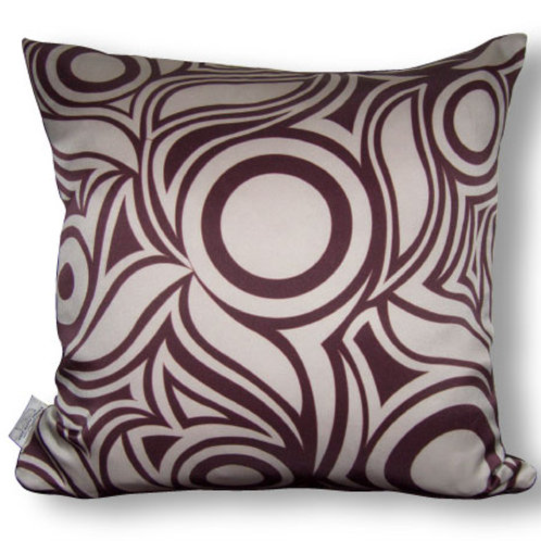 Zebra Decorative 16 x16 Digitally printed Silk Throw Cushion, buy at Judit Gueth Wallpaper, Rug and Textile Design in Toronto