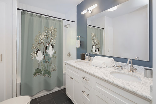 Shower Curtain - Japanese Garden Sage Custom