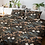 Thumbnail: Duvet Cover -Cotton Sateen -Japanese Garden Charcoal
