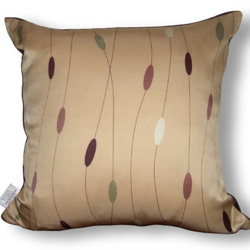 Beads Decorative 16 x16 Digitally printed Silk Throw Cushion, buy at Judit Gueth Wallpaper, Rug and Textile Design in Toronto