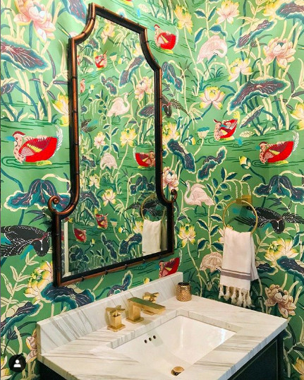 Wallpaper by Schumacher, Image from Charlotte Lucas Design