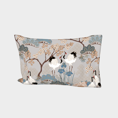 Pillow Sleeve RIGHT side - Cotton Sateen - Japanese Garden Grey