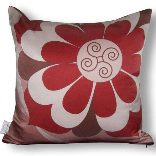 Flora Decorative 16 x16 Digitally printed Silk Throw Cushion, buy at Judit Gueth Wallpaper, Rug and Textile Design in Toronto