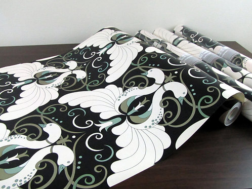 "Peacock Jade 18"" x 30' Prepasted SALE Nonwoven Wallpaper"