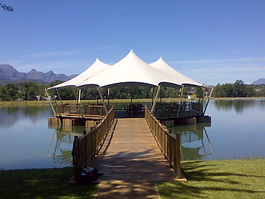 Stretch Tent hire, Stretch Tent on lake