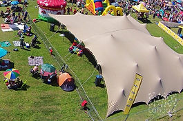 Stretch Tent view from above