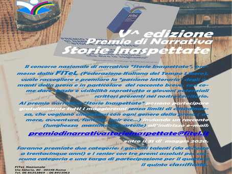"""V^ EDIZIONE PREMIO DI NARRATIVA """"STORIE INASPETTATE"""""""