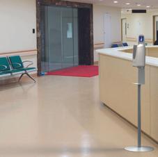 Hand Sanitizer Station in Reception