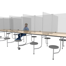 Large Fold Away School Cafeteria Tables
