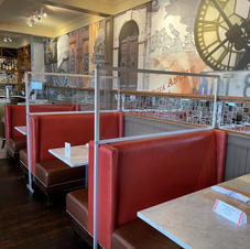 Booths in Restaurant with Dividers