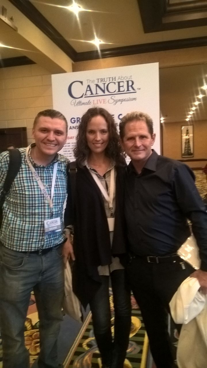 Con el Dr. Wolfe y Natalia