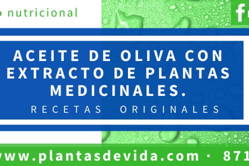 Aceite de oliva concentrado de plantas medicinales
