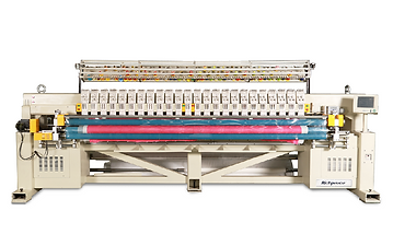 Multi Color Single Roll Quilting Machine