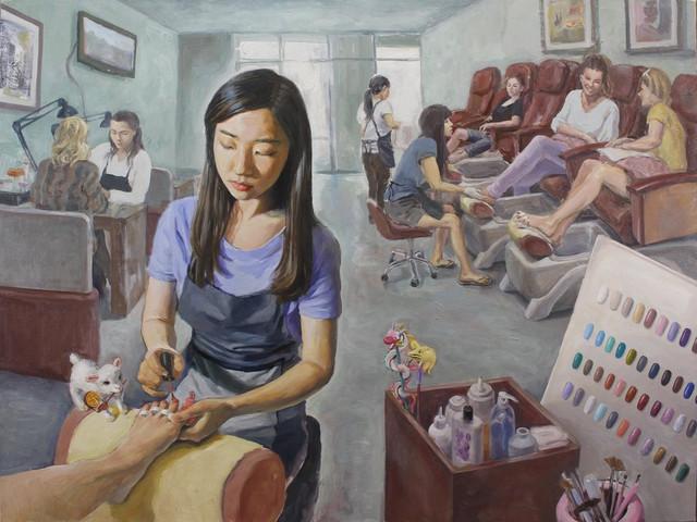 At the Nail Salon