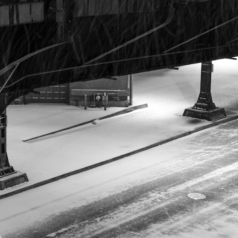 Snowy downtown - PDX