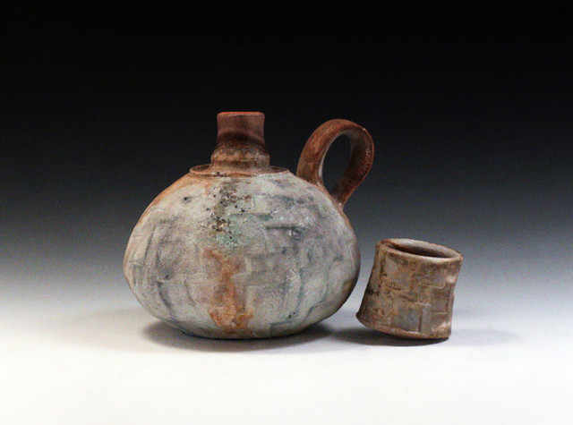 Small Spirit Bottle (11c) with Cup Lid