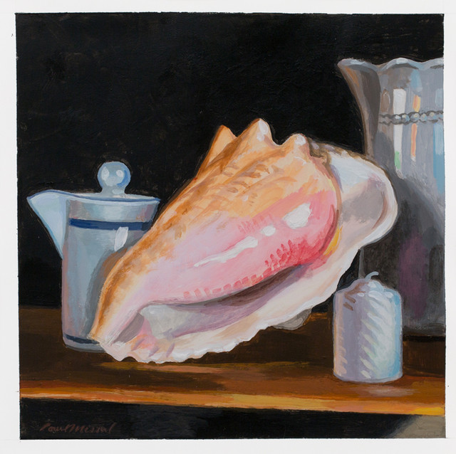 Still Life with Shell and Candle