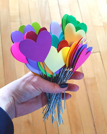 Rainbow Heart Picks