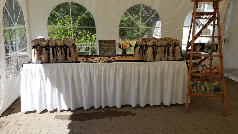 Welcome Table and Favours