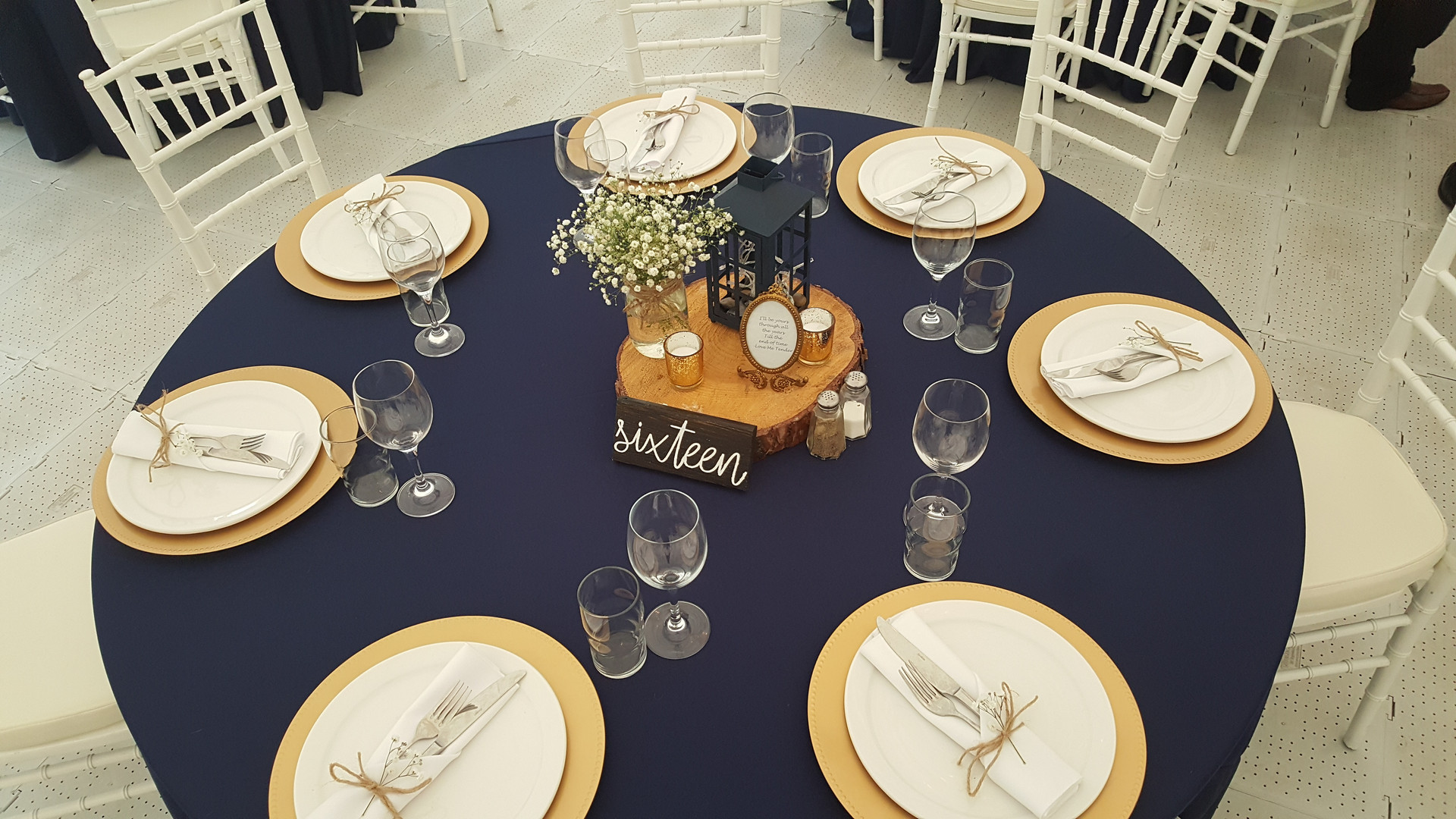Navy Tablecloth