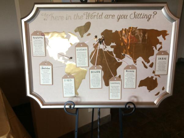 Custom Travel Themed Seating Chart