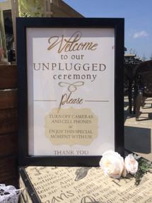 Custom Ceremony Sign