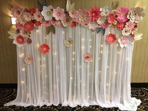 paper flower backdrop valhalla thunder bay pink ivory faux floral