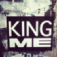 text sticker that says king me