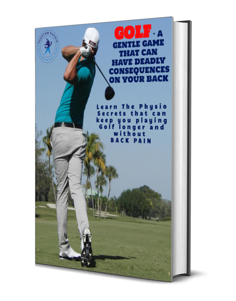 3D Cover for Golf Physio Back Pain ebook