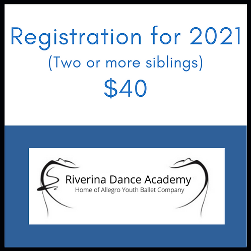 Registration for 2021 (Siblings)
