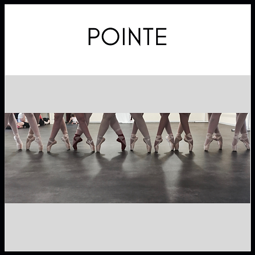 Pointe Class  - Monday 6.15 to 7.00pm