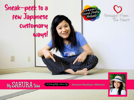 Sneak-peek to a few Japanese customary ways!