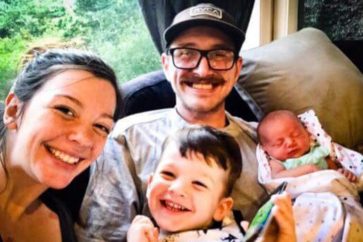 My son, his wife, and their two kids