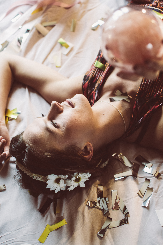 Femme boheme et romantique