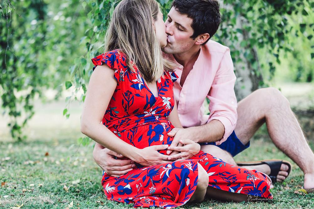 Séance photo grossesse couple jura