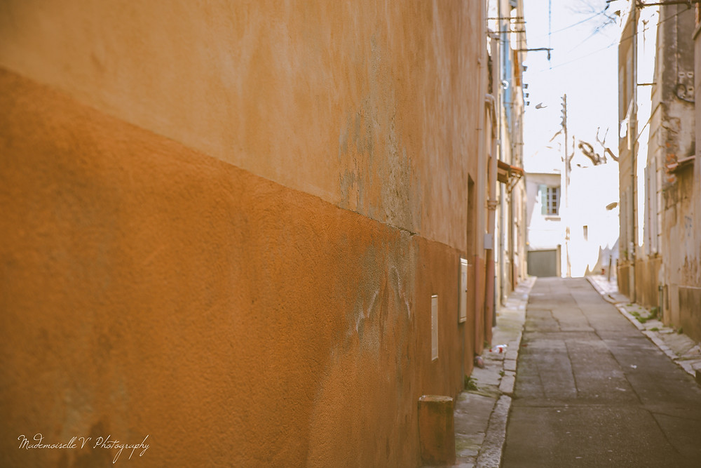 La ciotat mur ensoleillé Photographie