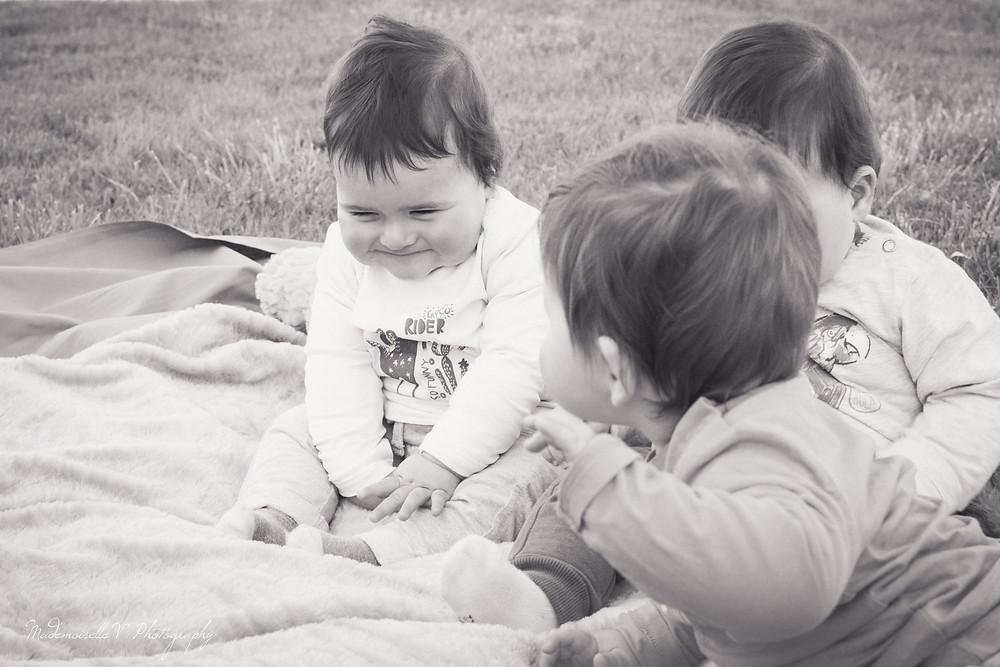 Séance photos enfants triplés jura