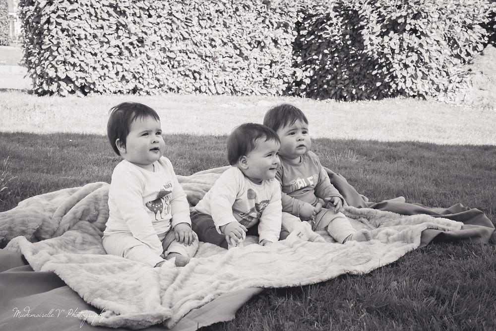 Séance Photos enfants triplés
