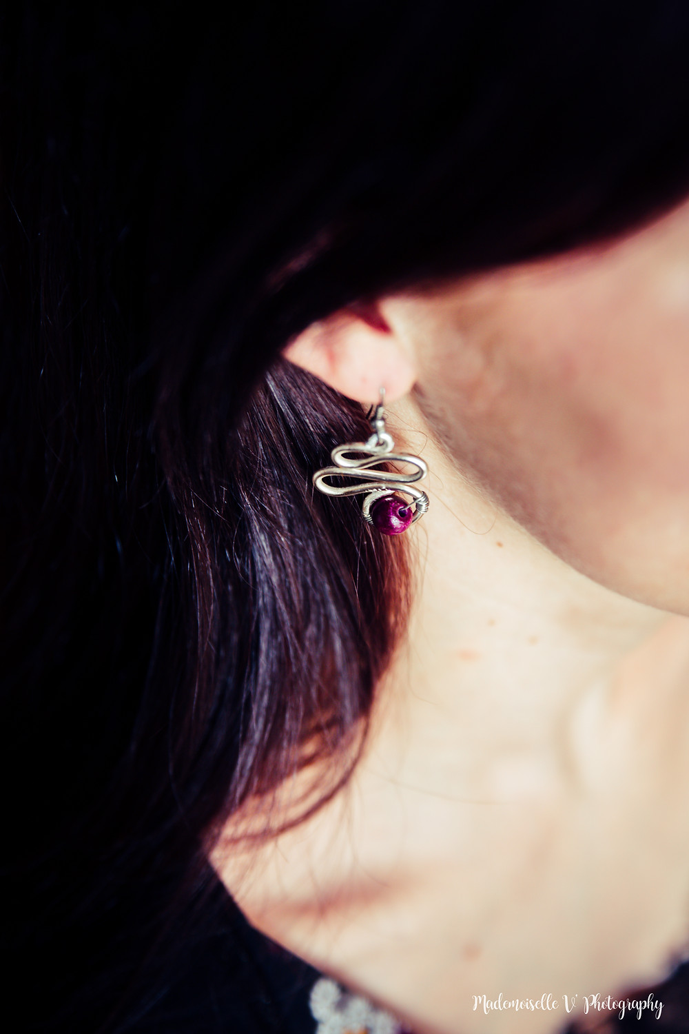 Boucle d'oreille Pearls N'Roses