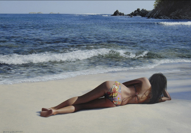 """""""Verónica On The White Sand """""""