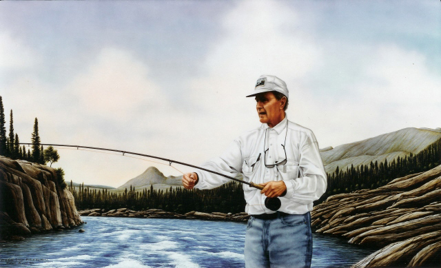President Bush Fishing On The Adlatok""