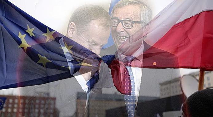 Tusk Junckers UE szkodzą Polsce
